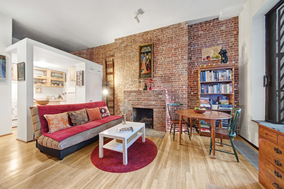 Fireplace Design all seasons fireplace : A fireplace and balcony make this $675K Upper West Side co-op a ...