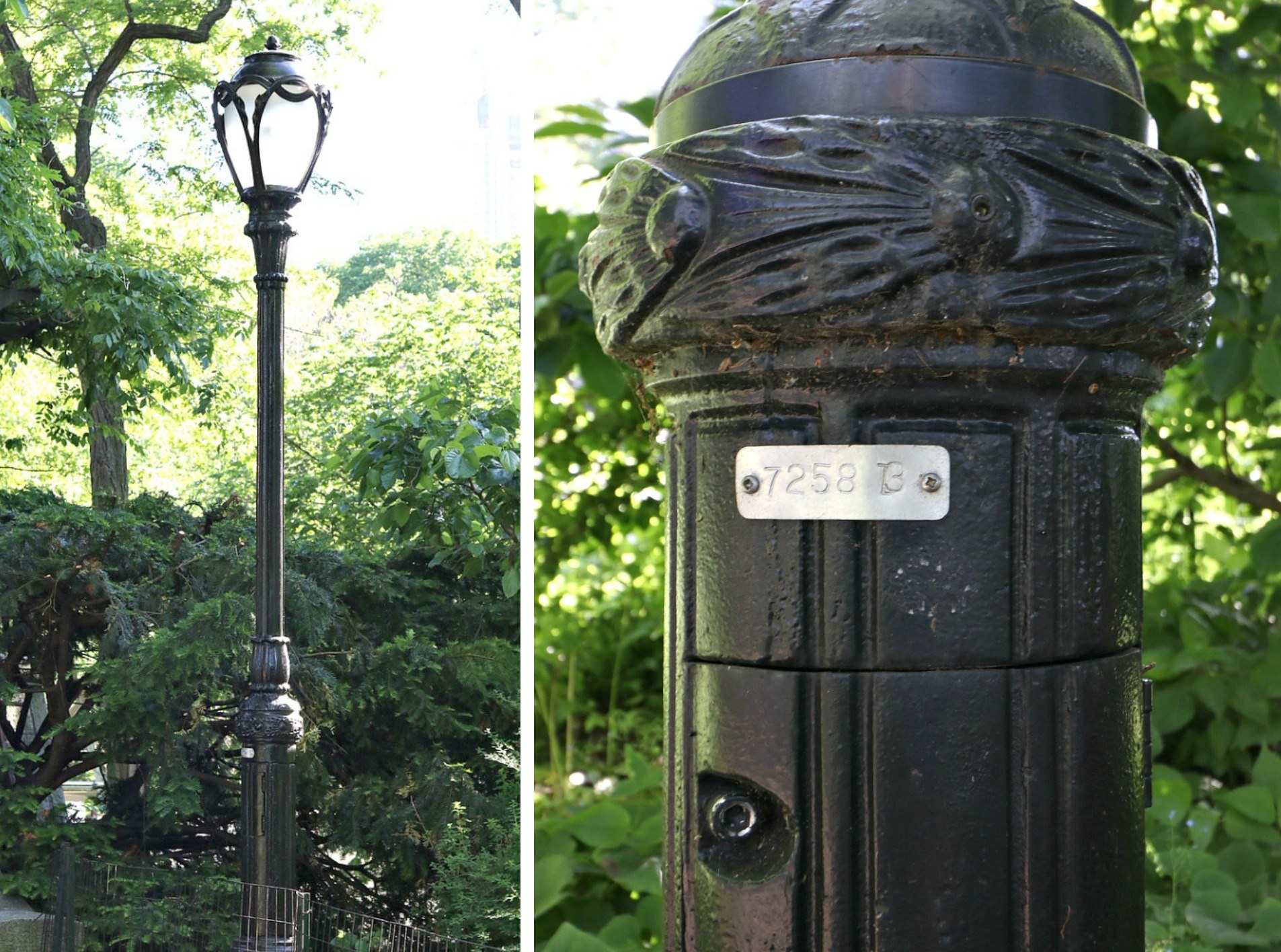 Central Park lampposts bear 'secret codes' to help you find your ...