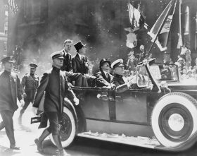 Charles Lindbergh, Ticker tape parade, NYC history