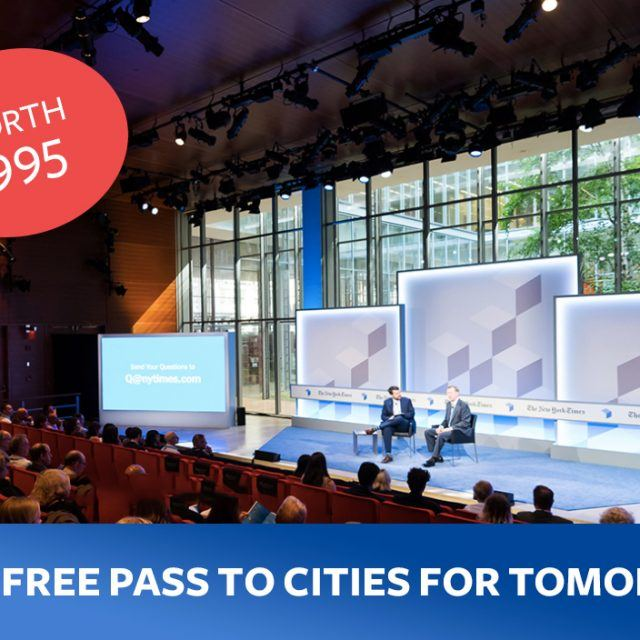 LAST CHANCE: Win a free pass to the New York Times Cities for Tomorrow Conference (Worth $995!)