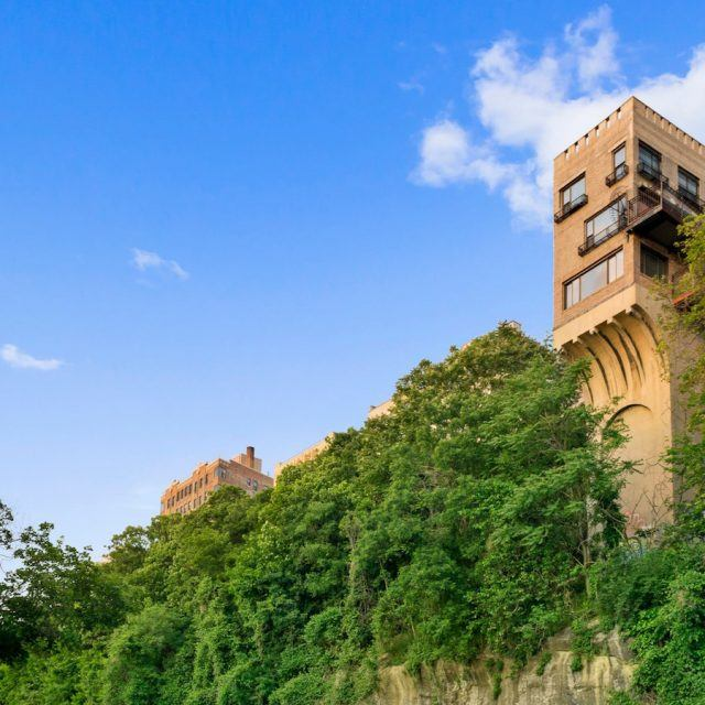 Unusual cliffside Hudson Heights 'Pumpkin House' sells after nearly two years for $2M