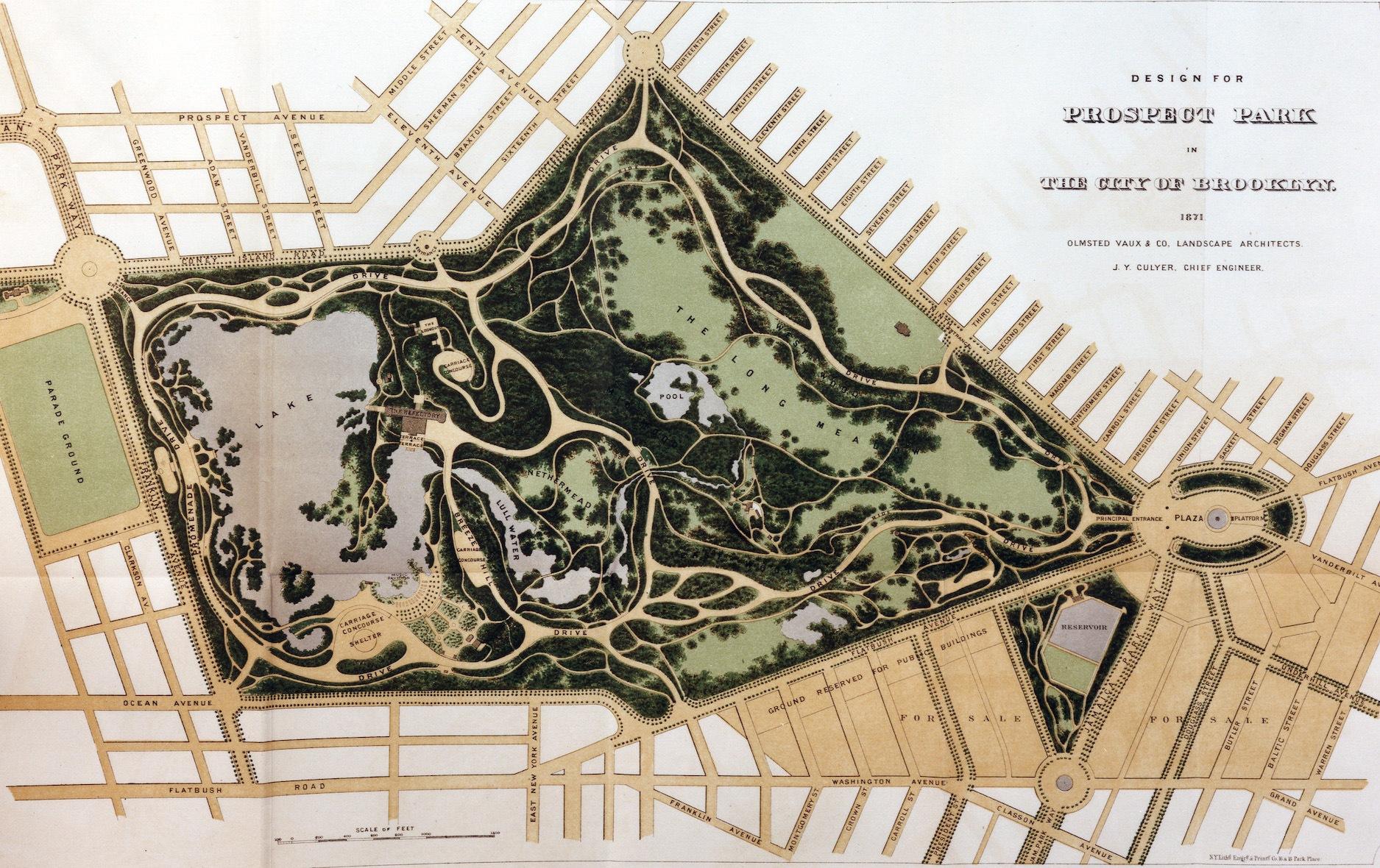 prospect park design, prospect park original design