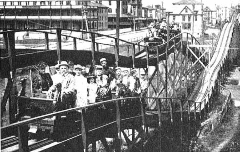 railway switchback, coney island, first roller coaster