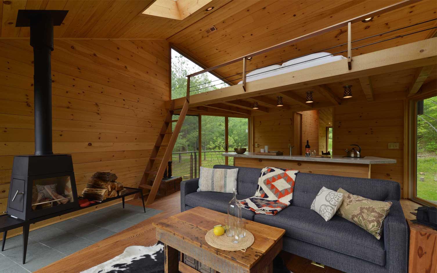 Woodstock treehouse, Antony Gibbons, modern treehouse, Catskills architecture