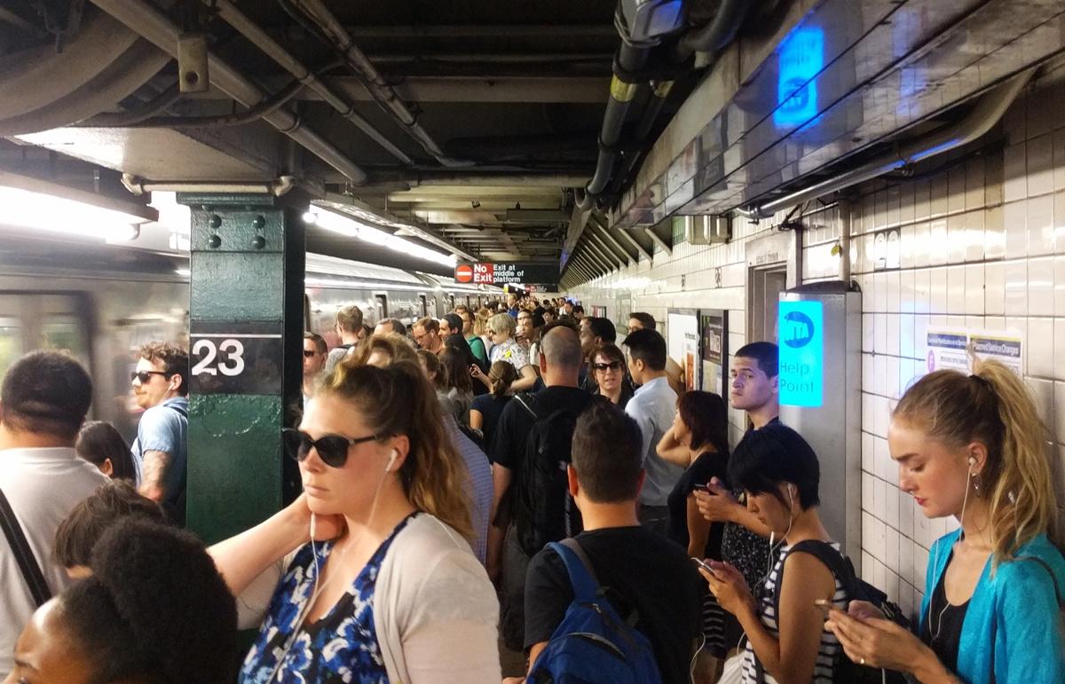 NYC subway, subway platform