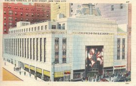 Airlines Terminal, art-deco buildings, nyc history