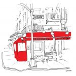 Lombardis NYC, All the Restaurants in New York, John Donohue, NYC restaurant drawings