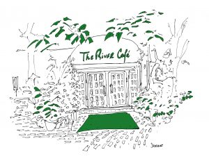 The River Cafe NYC, All the Restaurants in New York, John Donohue, NYC restaurant drawings