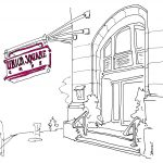 Union Square Cafe, All the Restaurants in New York, John Donohue, NYC restaurant drawings