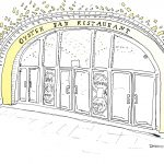 Grand Central Oyster Bar, All the Restaurants in New York, John Donohue, NYC restaurant drawings