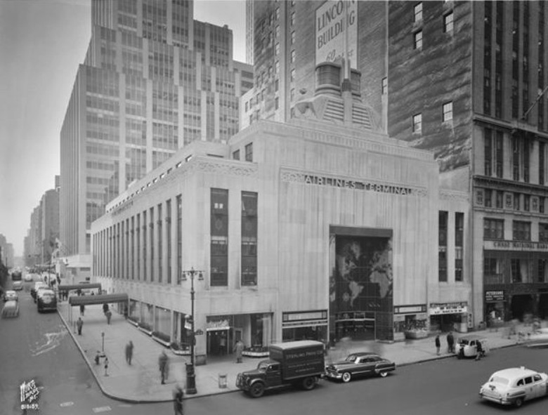 airlines terminal, airlines building, nyc history, art-deco