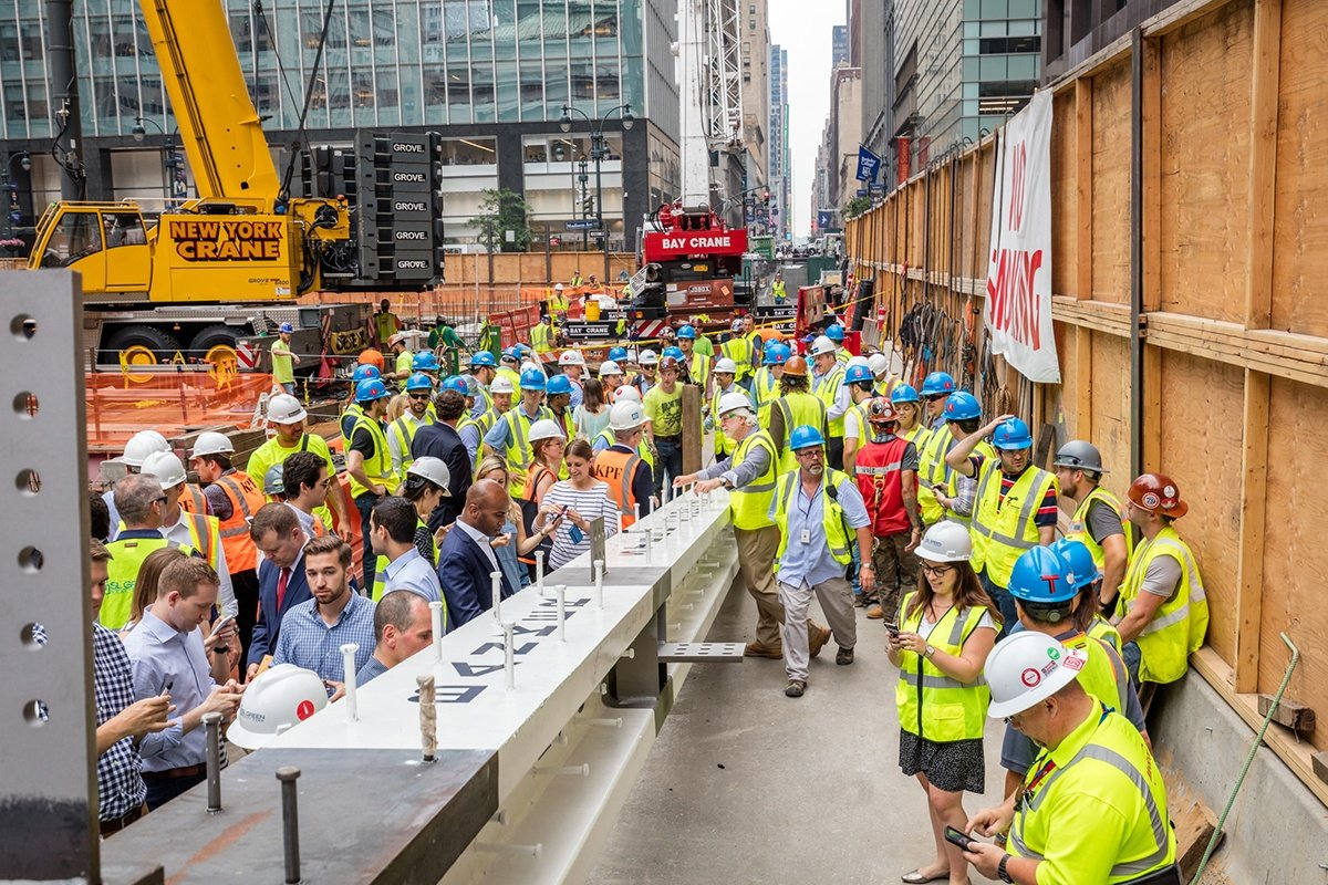 PHOTOS: First steel column installed at 1401-foot One