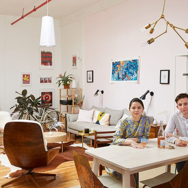 My 1100sqft: Designers Laura Yeh and Zach Jenkins turn a blank Bushwick loft into a pastel dreamscape
