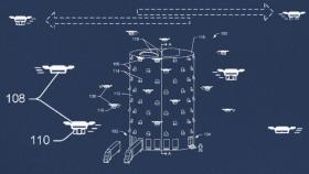 amazon drone, skyscraper drone, drone tower