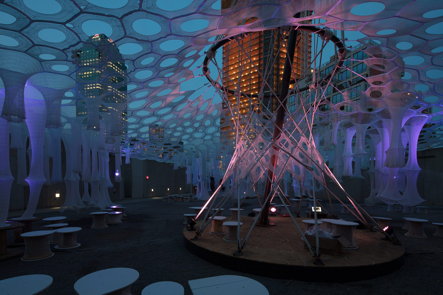 Watch Moma Ps1 S Solar Canopy Art Installation Get