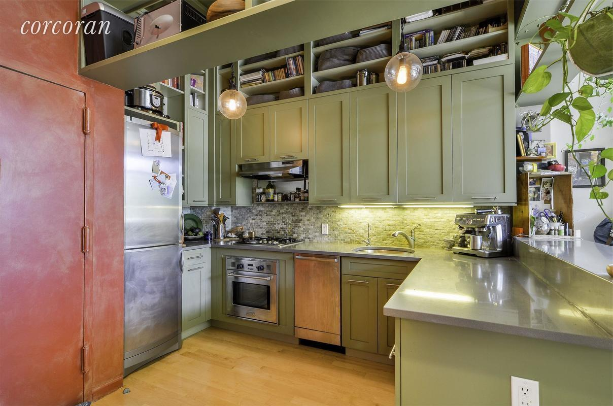 kitchen cabinets storage 3 250 month williamsburg apartment comes furnished with 3250