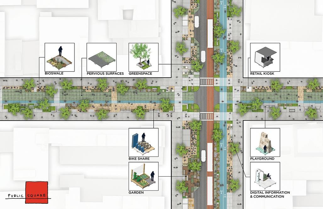 Public Square, FXFOWLE architects, driverless future challenge
