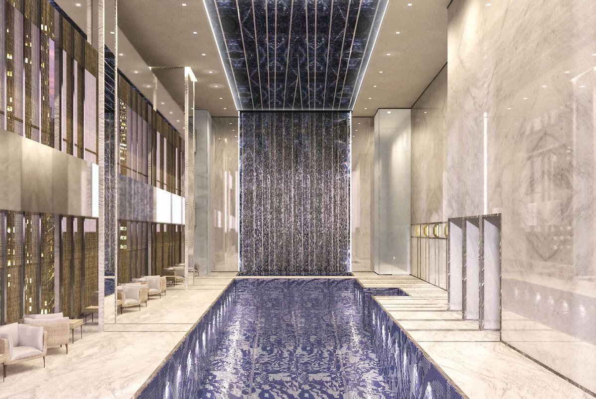 First look see central park tower 39 s palatial amenity - Capital tower fitness first swimming pool ...