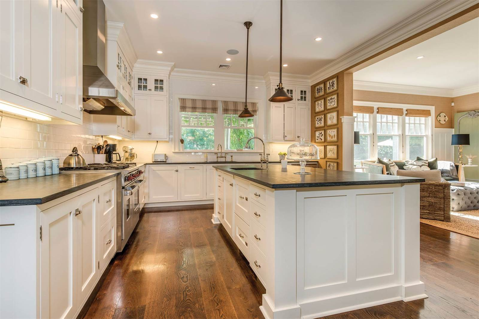 With Stainless Steel Appliances A Third Oven Restaurant Grade Stove And Butlers Pantry It Leads Into The Formal Dining Room