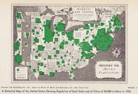 1930s map, new york history, american population
