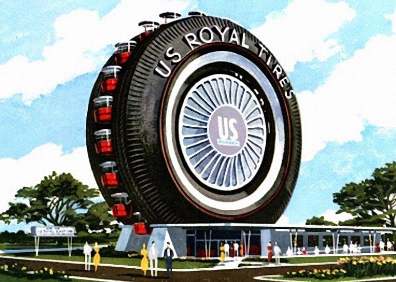 uniroyal giant tire, 1964 world's fair, ny world's fair