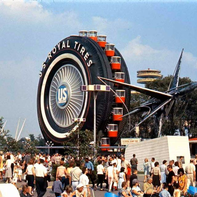 The world's largest tire was used as a Ferris wheel at NYC's 1964 World's Fair