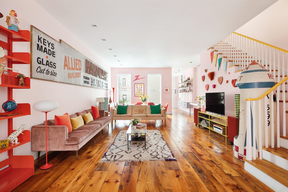 Colorful Pop art-filled East Village townhouse designed by Annabelle Selldorf asks $7.5M