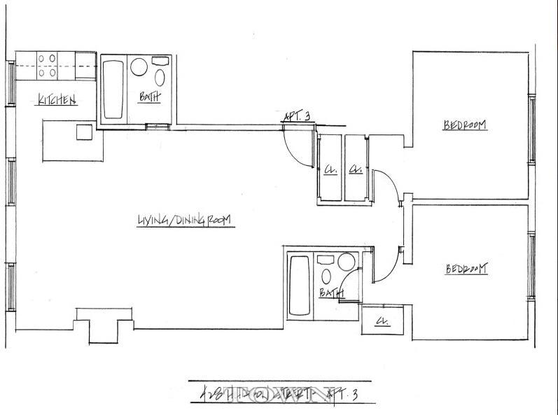 428 hudson street, west village, rental, town residential, floorplan