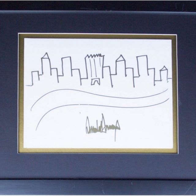 Donald Trump's sketch of the Manhattan skyline sells for $29,184 at auction