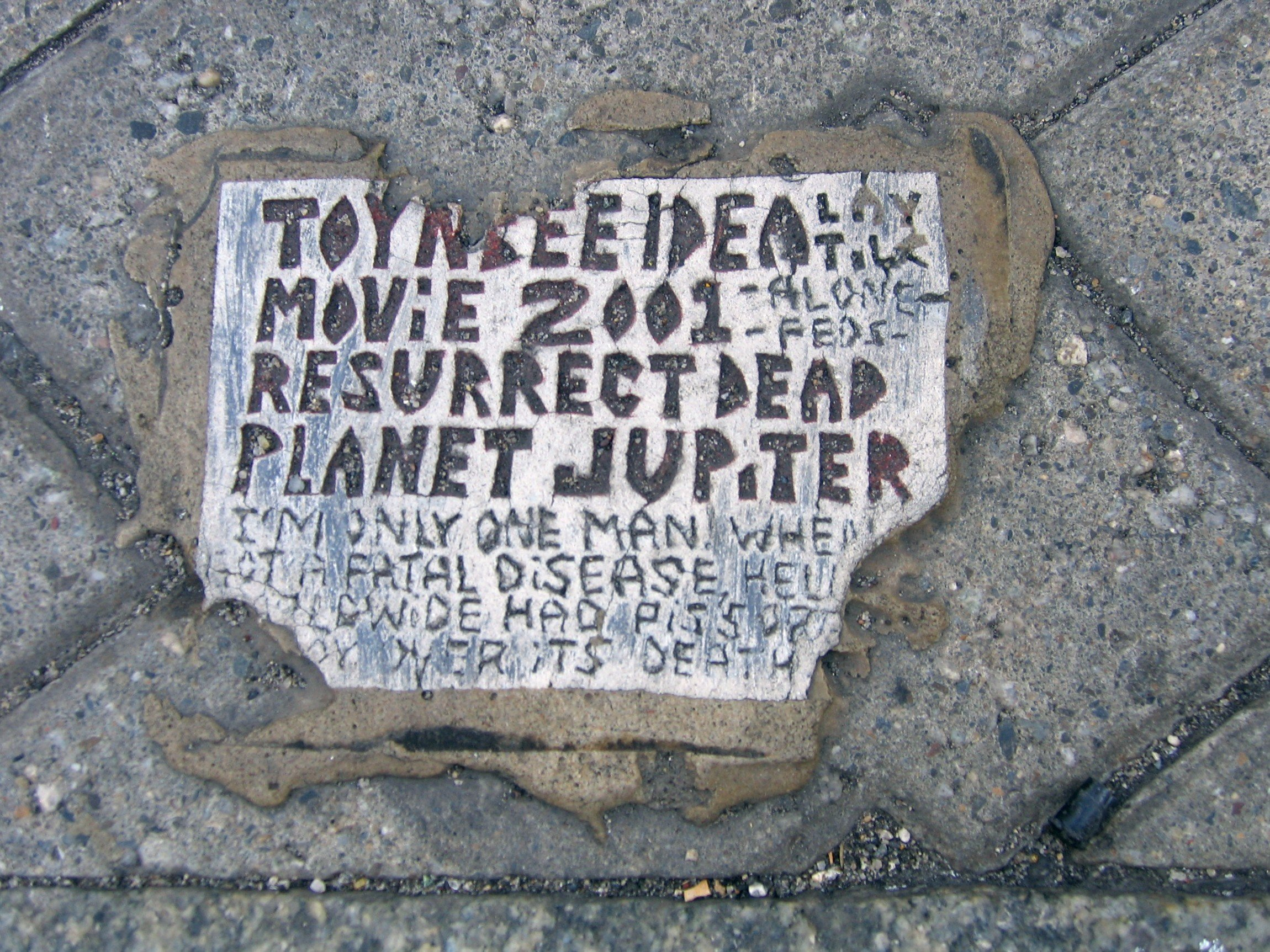 toynbee tiles, toynbee, hidden attractions nyc