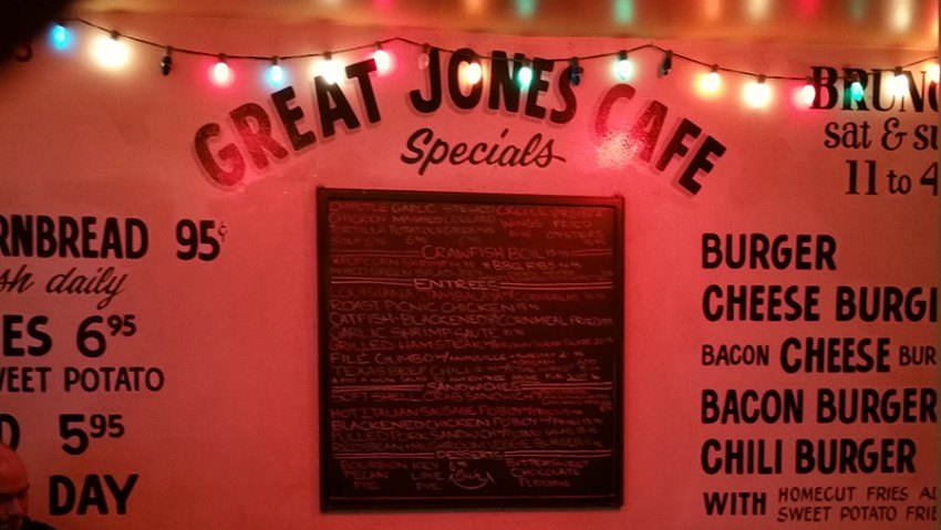 great jones cafe, great jones street