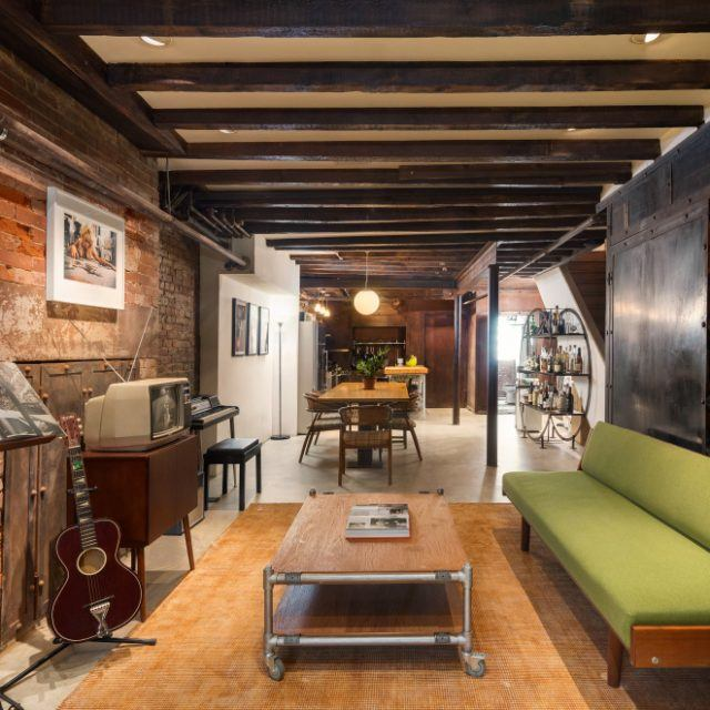 Musician Danger Mouse lists industrial-chic Gramercy garden duplex for $1.675M