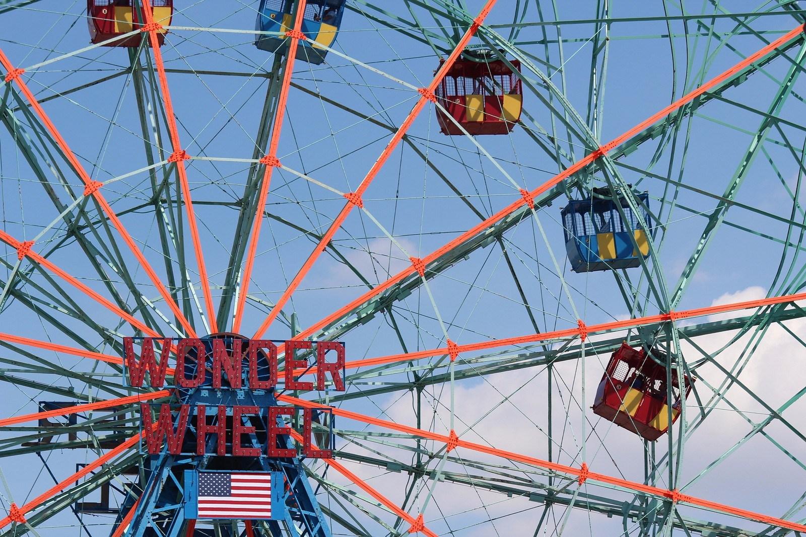 denos wonder wheel, coney island, coney island history