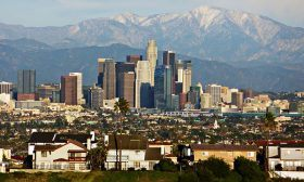 Los Angeles, LA skyline,