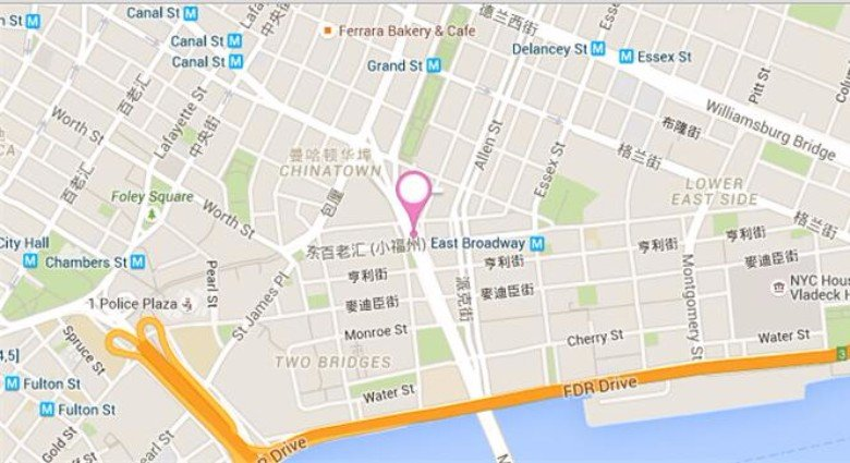 Chinese immigrants use slang names and maps to navigate the streets on