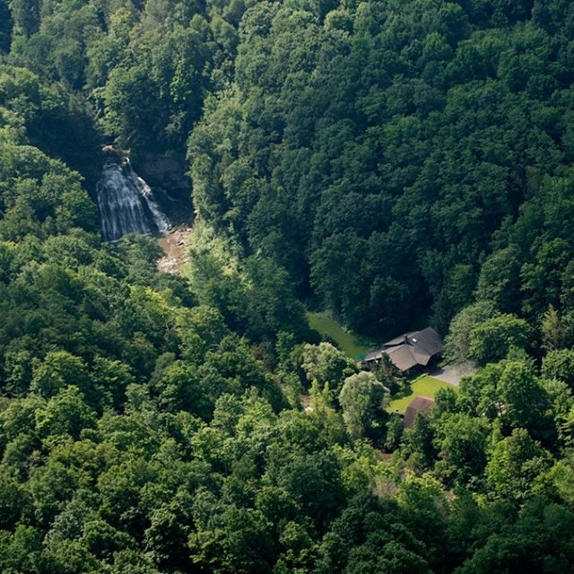 Own two waterfalls, 60 acres of land, and a cabin upstate for $925K