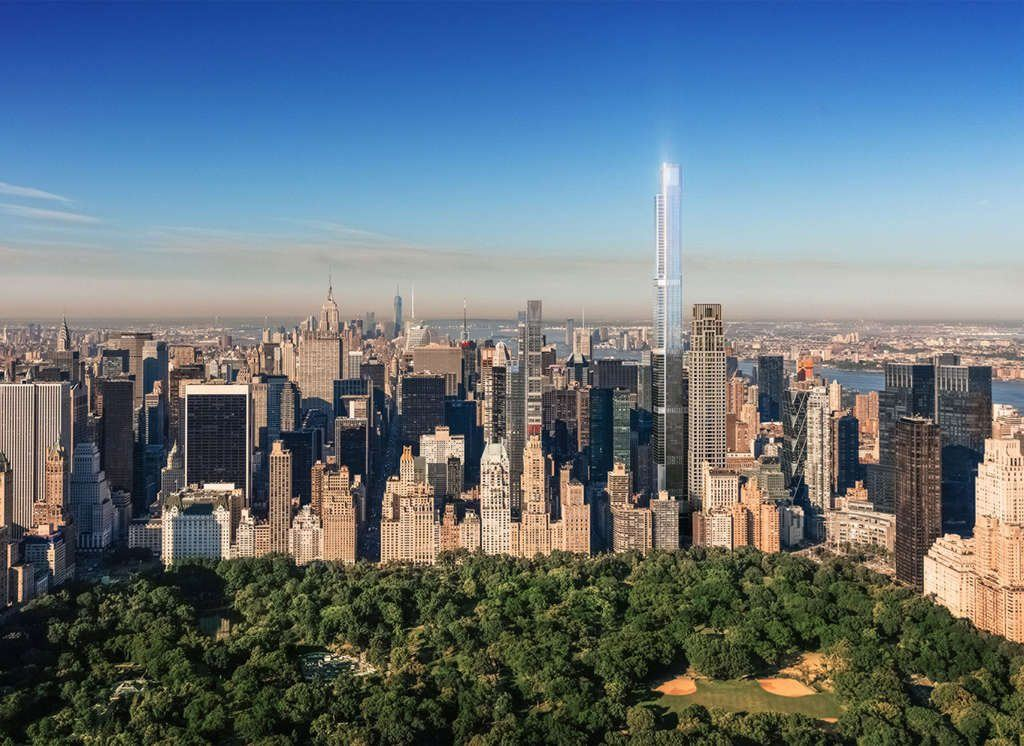 New rendering of extell s central park tower shows for Things to do in central park today