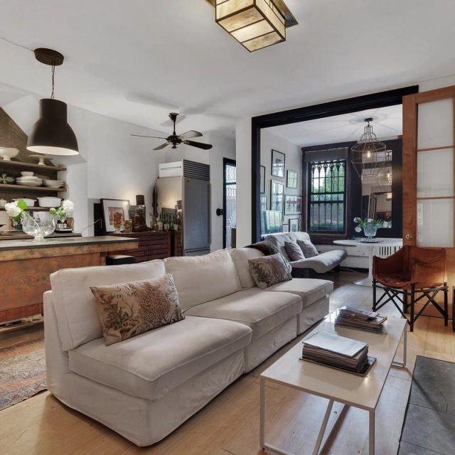 $5,250/month Clinton Hill carriage house got a modern transformation with a lush backyard