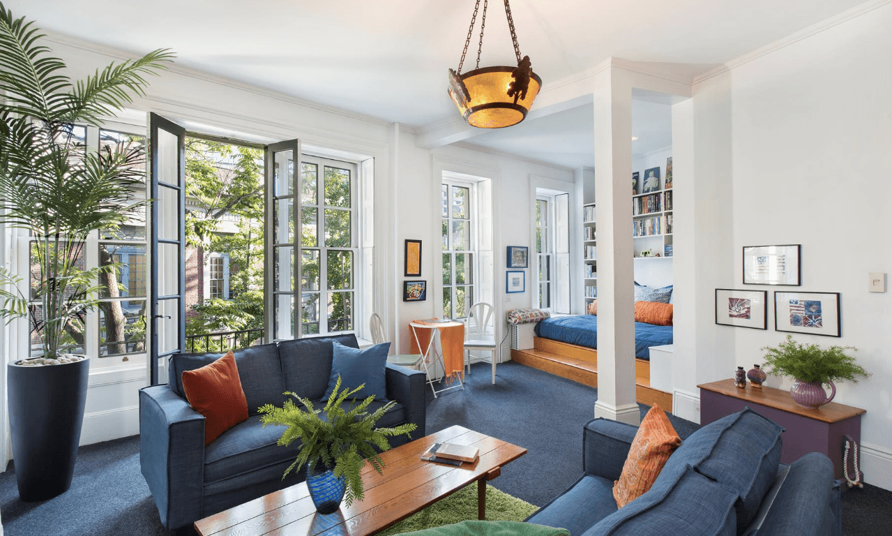 17 st luke's place, cool listings, west village, townhouses, historic homes, interiors