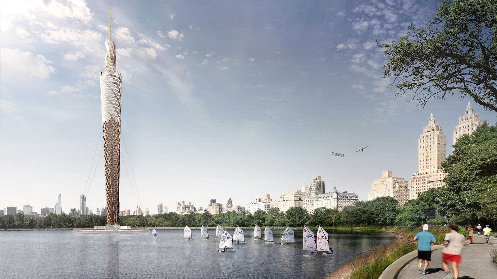 712 foot observation tower proposed for central park would for Things to do in central park today