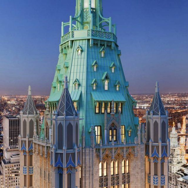 Massive penthouse in the Woolworth Building's iconic copper 'Pinnacle' lists for $110M