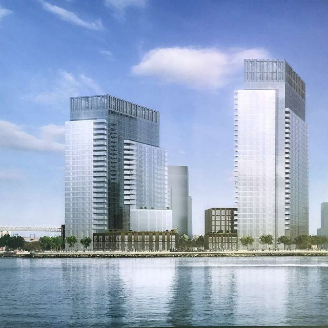 First look at Halletts Point's phase two reveals pair of blocky, glass towers