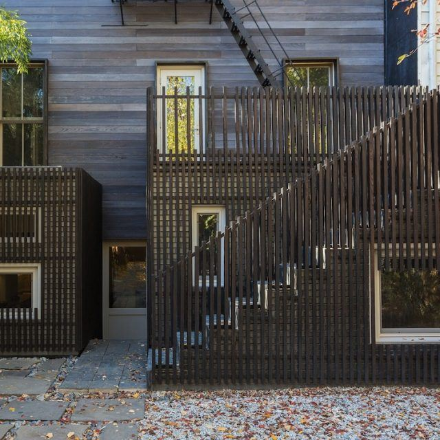 Architensions transformed a Brooklyn townhouse into a stunning compound with a writing pavilion