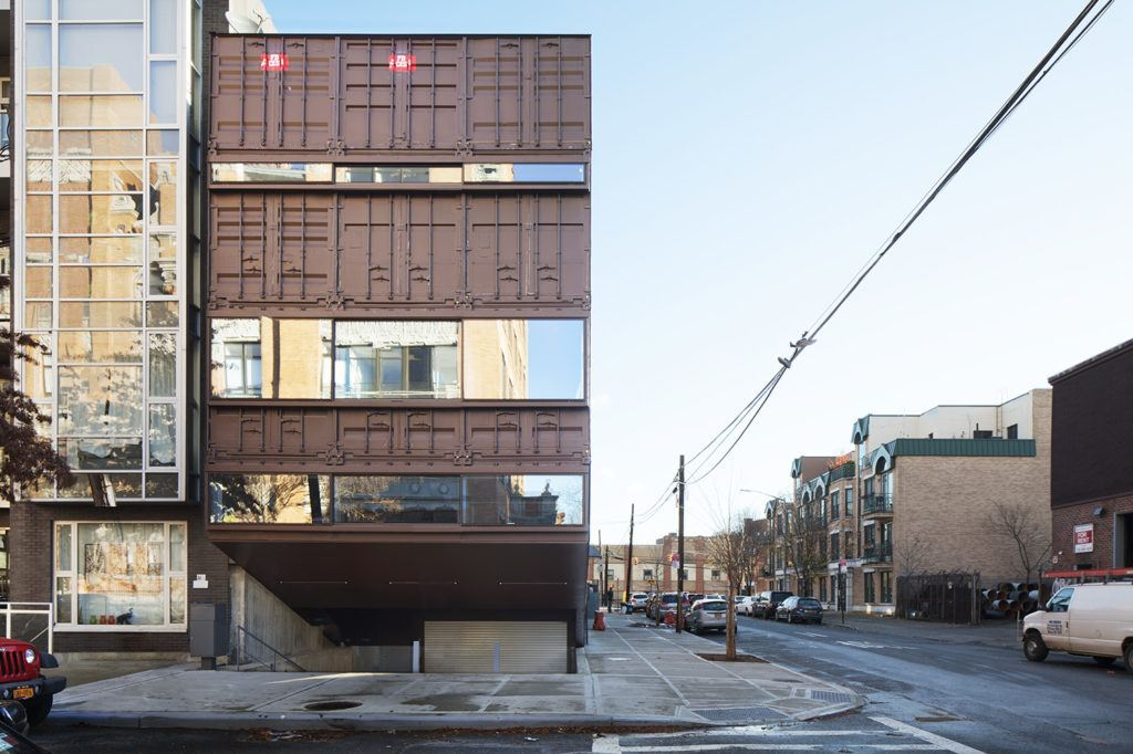 Lot-ek, carroll house, shipping containers, williamsburg, archtober