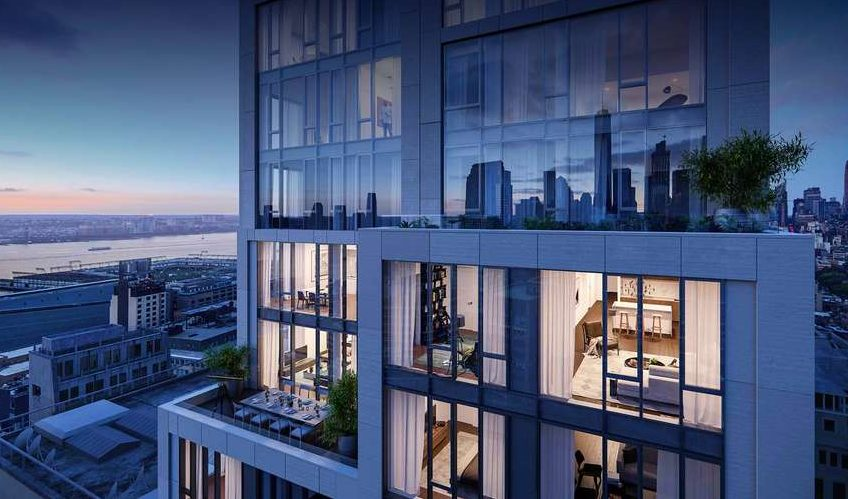 New renderings of Skidmore, Owings and Merrill's Hudson Square condo 570 Broome