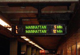 nyc subway, countdown clock