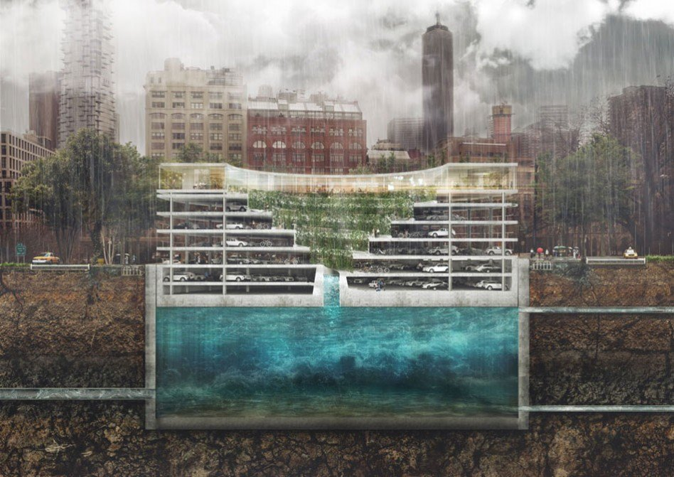 pop up concept is a floating parking garage with moving. Black Bedroom Furniture Sets. Home Design Ideas