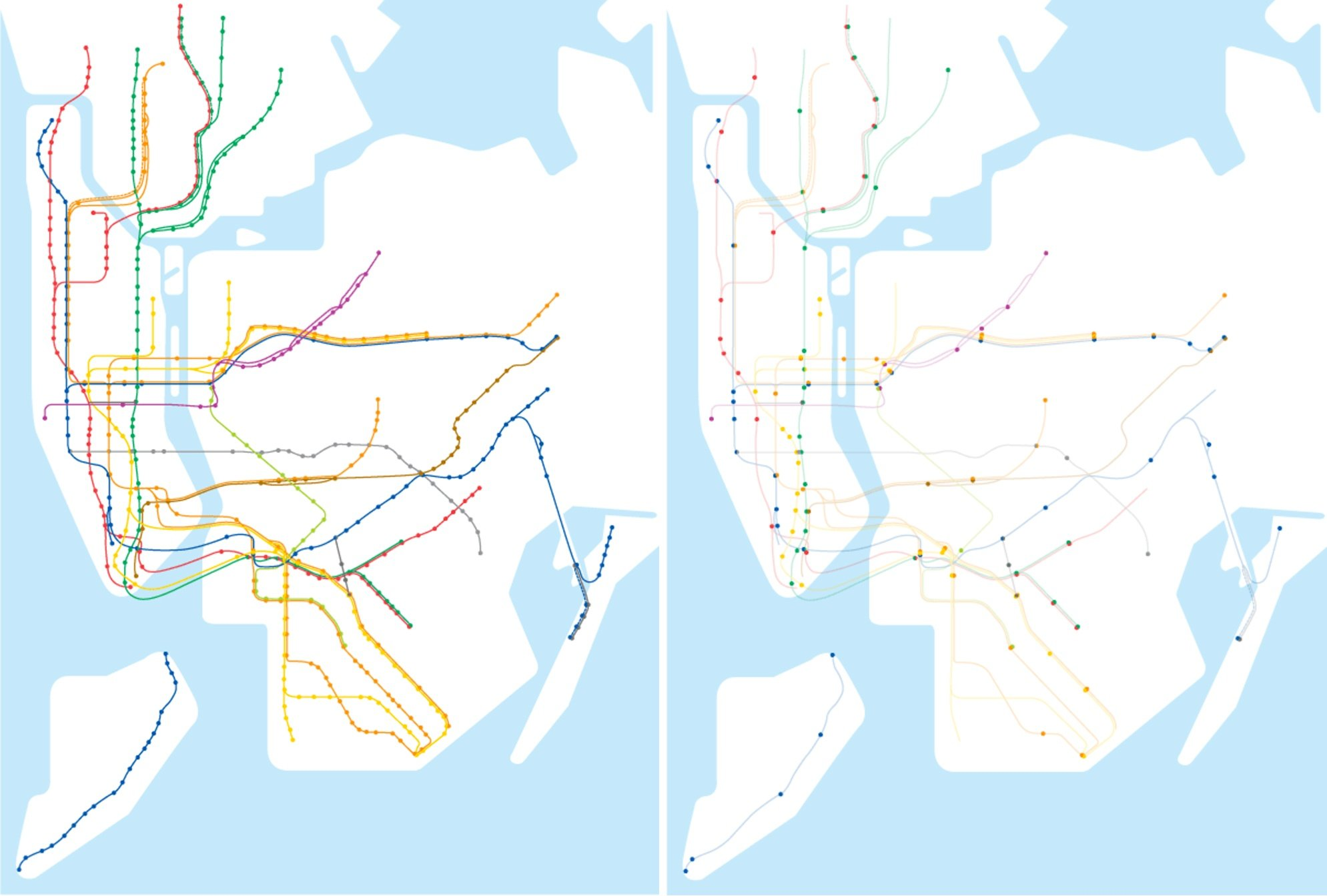 Mya Subway Map.Map Shows Less Than 1 4 Of Nyc Subway Stations Are Accessible 6sqft