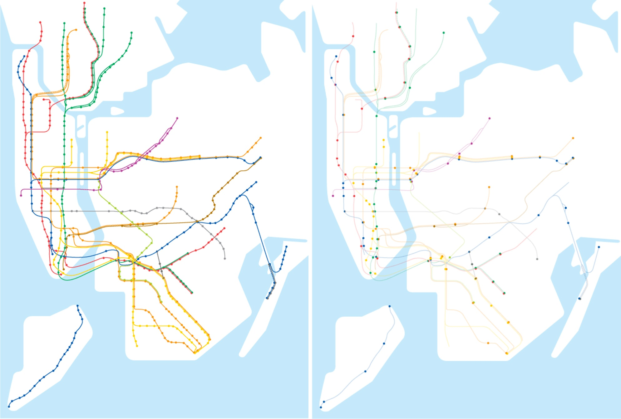 Mta Subway Map In 1990.Map Shows Less Than 1 4 Of Nyc Subway Stations Are Accessible 6sqft