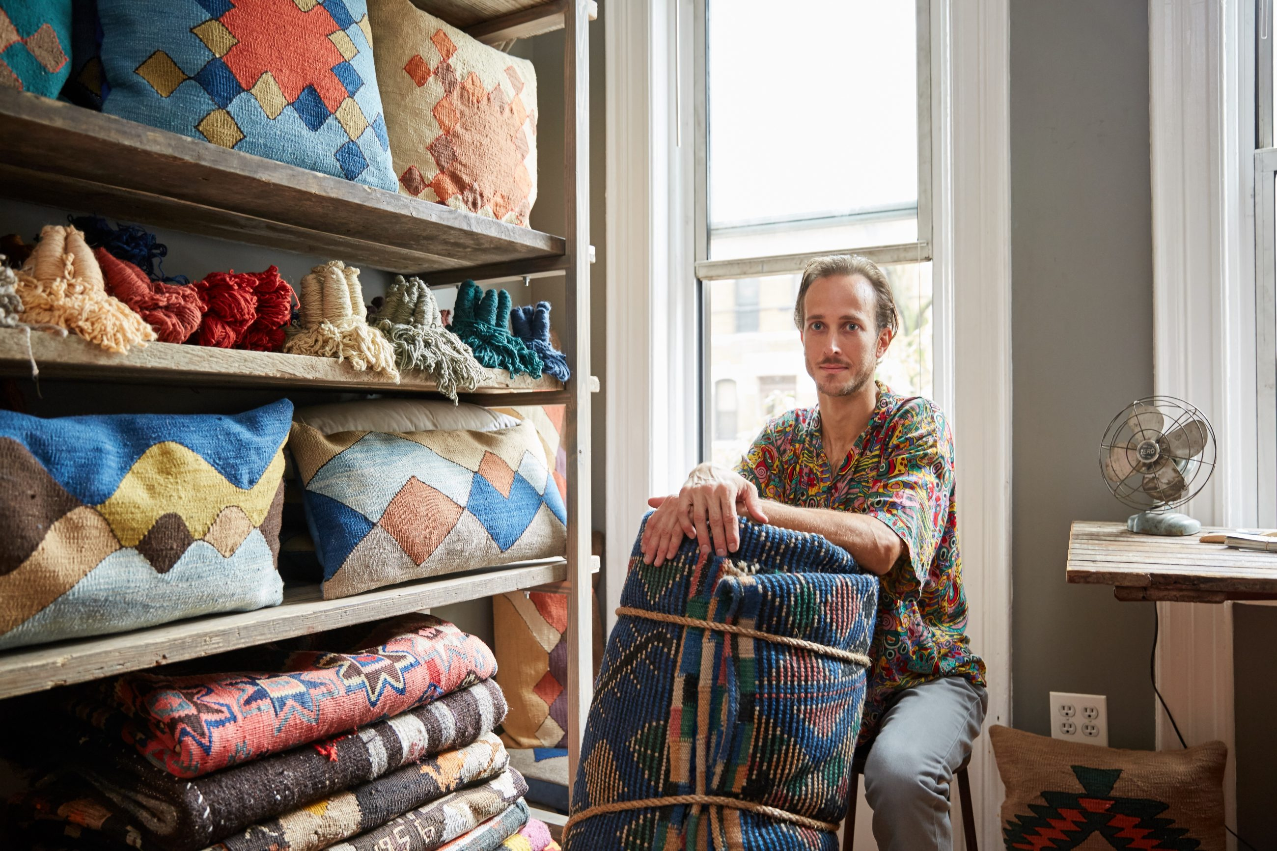 My 550sqft: A textile designer fits a studio and warehouse into ...